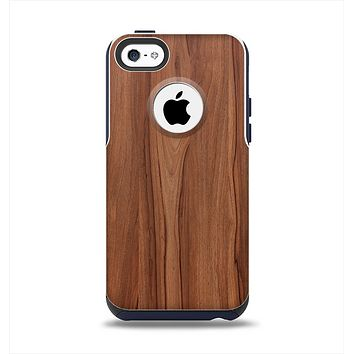 The Smooth-Grained Wooden Plank Apple iPhone 5c Otterbox Commuter Case Skin Set