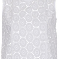 Cotton Circle Broderie Shell Top - Tops  - Clothing