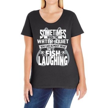 you can almost hear the fish laughing! Ladies Curvy T-Shirt