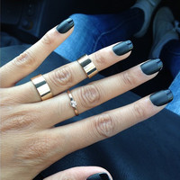 Matte Black French Manicure With Shiny Tip Nail Art, Fake, False, Acrylic, Artificial, Hand Painted, Press On Nail Set