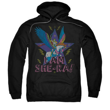 She Ra Men's  I Am She Ra Hooded Sweatshirt Black Rockabilia