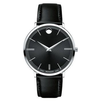 Movado Men's Ultra Slim Stainless Steel Strap Watch 0607086