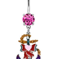 Anchors Away Belly Ring