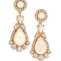 Kate Spade New York - Butter Up Mother-Of-Pearl Statement Drop Earrings - Saks Fifth Avenue Mobile