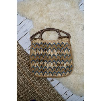Vintage Woven Spanish Tote