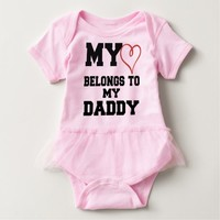 MY HEART BELONGS TO DADDY CUTE BABY GIFT T SHIRT