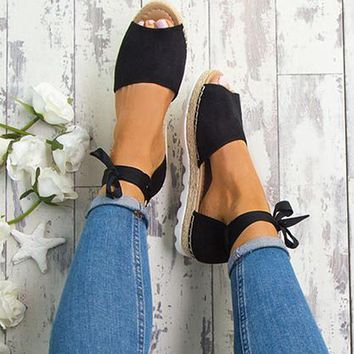 Summer Rome Ankle Strap Flat Sandals Sizes 5-11