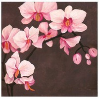 "Graham & Brown Hand Painted Orchid Canvas Art - 28"" X 28"" - 43284 - Canvas Art - Wall Art & Coverings - Decor"