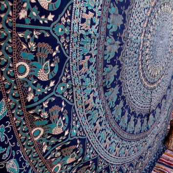 Flower Elephant Tapestry, Psychedelic tapestry, Mandala, Star Tapestry, Wall Hanging, Wall Decor, Bedspread