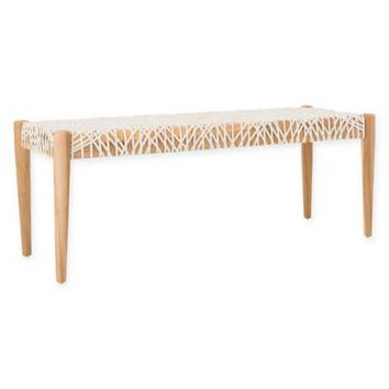 Safavieh Bandelier Leather Weave Bench