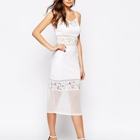 French Connection Lucky Layer Midi Dress