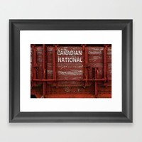 Red Wagon Framed Art Print by Claude Gariepy