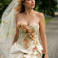 Beautifully Unique Floral Dress: Corset and Skirt