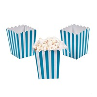 Blue striped popcorn boxes