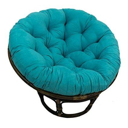 Rattan Papasan Chair With Microsuede From Amazon