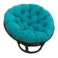 Rattan Papasan Chair with Microsuede Cushion