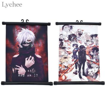 Lychee Tokyo Ghoul Scroll Painting Canvas Wall Poster Home Wall Print Modern Art Decor Poster