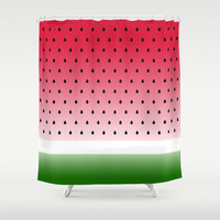 Juicy Watermelon Shower Curtain by Eileen Paulino