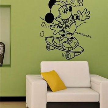 MICKEY MOUSE DISNEY KIDS ROOM NURSERY WALL VINYL STICKER DECALS ART MURAL M30