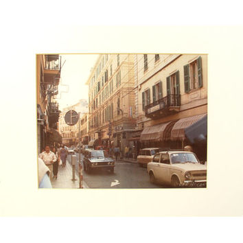 "Lee Hixon - Vintage Street of Italy - Artist Signed Photograph - 11"" x 14"" (28 x 36 cm)"