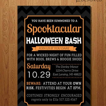 Halloween Party Invitation - Printable - DIY - Halloween Invite - Costume Party