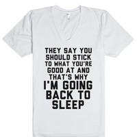 Going Back To Sleep-Unisex White T-Shirt
