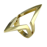 "Boy Meets Girl® x Roman Luxe ""Crazy"" Open Double Triangle Ring"