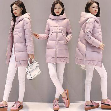 Pinky Is Black Winter Coat Women 2017 Winter And Autumn Wear High Quality Winter Jacket Women Outwear Long Parkas Thick Coats