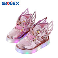 Baby Girl Luminous Shoes Flying Wing Light Up Colorful Glowing Sneakers