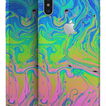 Neon Color Swirls - iPhone X Skin-Kit