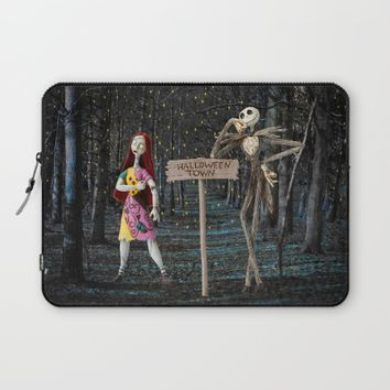 Halloween Town | Jack | Sally | Christmas | Nightmare Laptop Sleeve by Azima