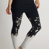 Frost Splattered Organic Foldover Leggings