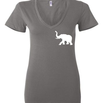 Official NCAA Venley University of Alabama Crimson Tide UA ROLL TIDE! BAMA Ladies Deep V-Neck - 35AL-41