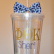 Monogrammed Acrylic Tumbler. Greek letters sorority 16 ounce cups.
