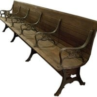 Cast Iron Oversized Bench - One Kings Lane - Vintage  Market Finds - Furniture