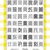 Nail Art Jumbo Stamp Stamping Manicure Image Plate 10 - Happy Nails by Cheeky®