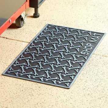 """Shop Mat Rubber Cushioned Garage Workshop 29.5"""" x 18"""" Wrench Pattern NEW"""