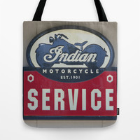 Indian Motorcycle Service Tote Bag by Veronica Ventress