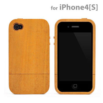 Natural Wood Two-piece Style Cover for iPhone 4S/4