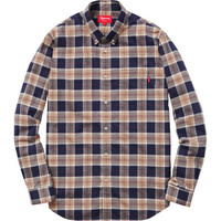 Supreme: Flannel Shirt - Black