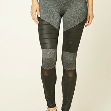 Active Marled Moto Leggings