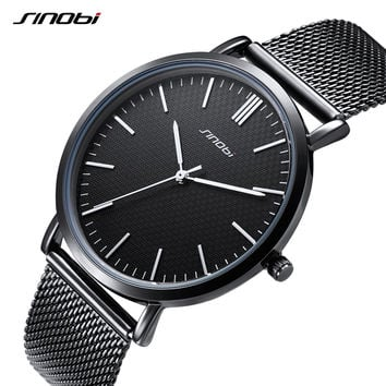 Top Watches Men Quartz Sport Watch Watch Ultra Thin Business Watch Stainless Steel Mesh Belt