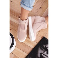 Jenna Sneaker Wedges (Blush)