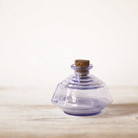 French vintage inkwell Glass inkpot Small vase by FrenchFind