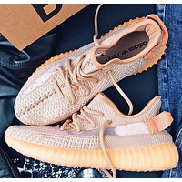 Adidas Yeezy Boost 350v2 New Fashion Women Men Running Shoes Orange&Khaki