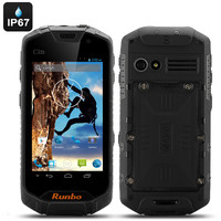 Runbo Q5S Android Rugged Smartphone - 4.5 Inch Display, Quad Core CPU, 1GB RAM, 8GB Internal Memory, Walkie Talkie (Black)