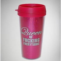 Pink Queen of Fucking Everything Travel Mug - Spencer's