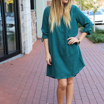 Washed Out Chevron Shift Dress