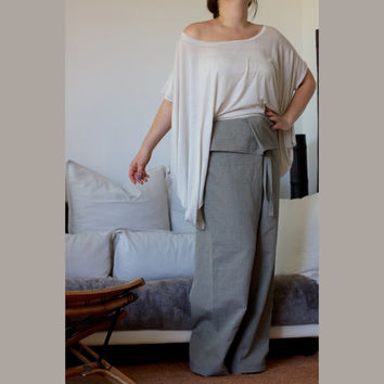 Unisex Yoga Harem Pants/ Linen Harem Pants/ Wide  Leg Pants / Oversize Loose Pants/ Drop Crotch pants