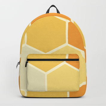 Yellow Honeycomb Backpack by spaceandlines